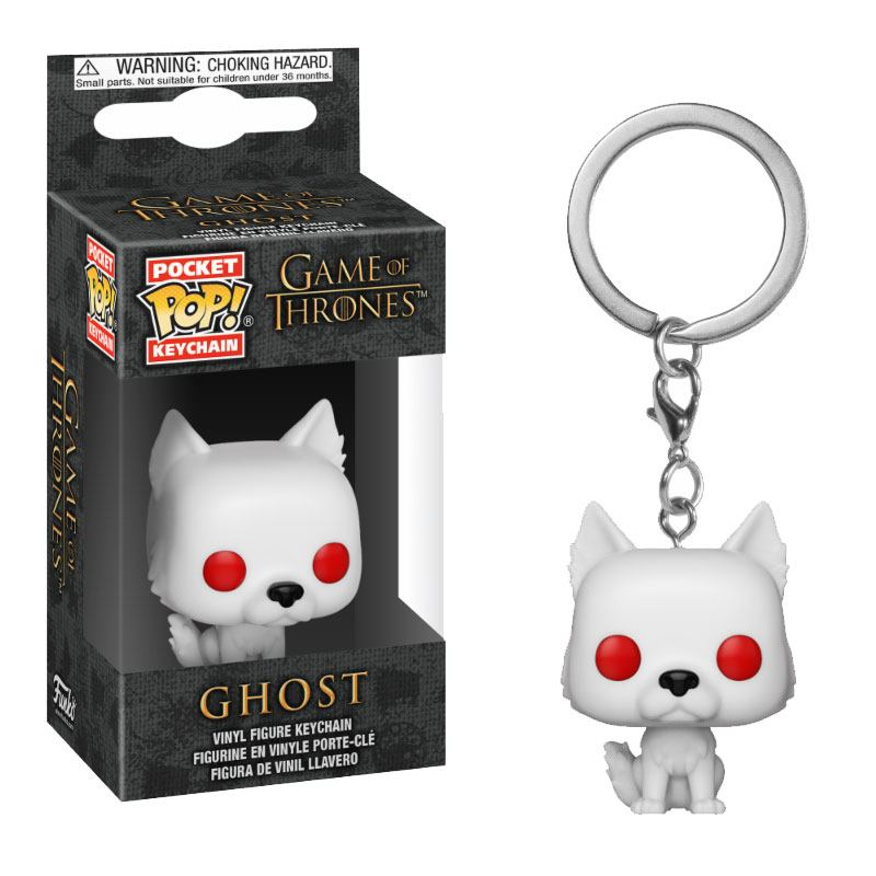 Game of Thrones Pocket POP! Vinyl Keychain Ghost 4 cm