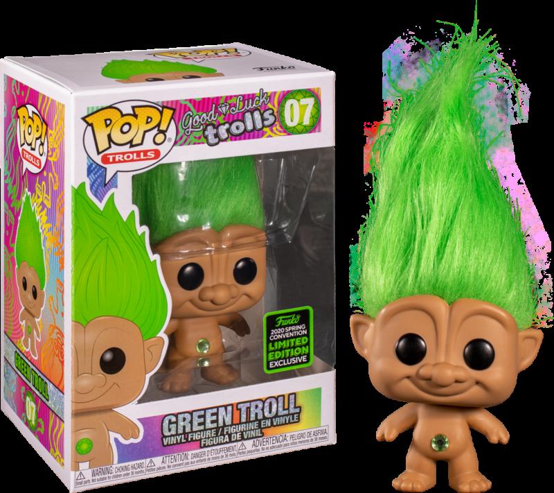 Good Luck Trolls POP! Figures Green Troll Doll Limited 9 cm (con bollino Spring Convention 2020)