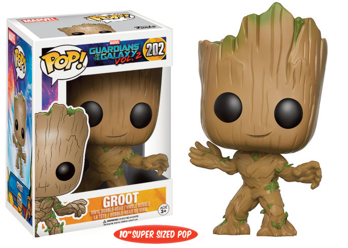 Guardians of the Galaxy Vol. 2 Super Sized POP! Marvel Vinyl Figure Young Groot 25 cm Limited Edition