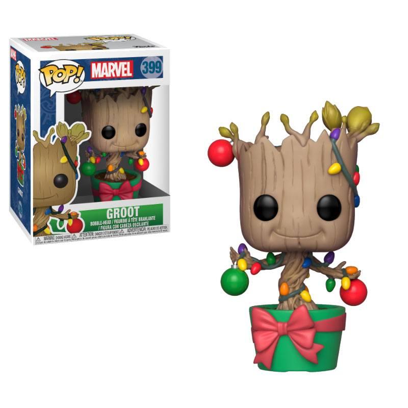 Marvel Comics POP! Marvel Holiday Vinyl Bobble-Head Groot (Lights & Ornaments) 9 cm