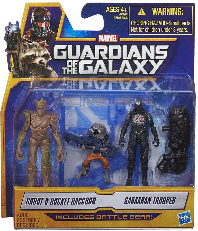 Guardians of the Galaxy Action Figure 2-Packs 6 cm Groot & Rocket Raccon e Sakaaran Trooper