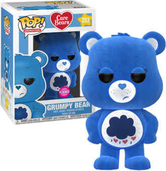 Care Bears POP! Animation Vinyl Figure Grumpy Bear Flocked 9 cm