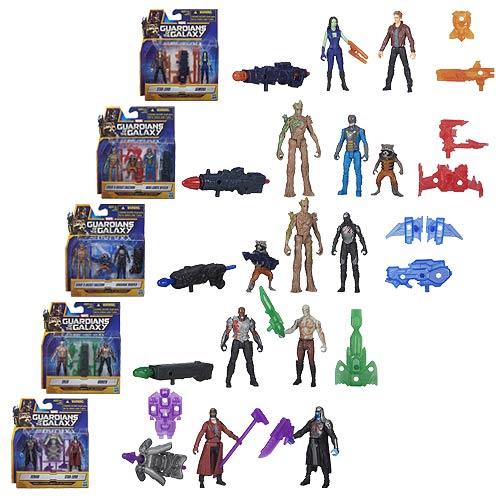 Guardians of the Galaxy Action Figure 2-Packs 6 cm Epic Battles Wave 1 Assortment (5)