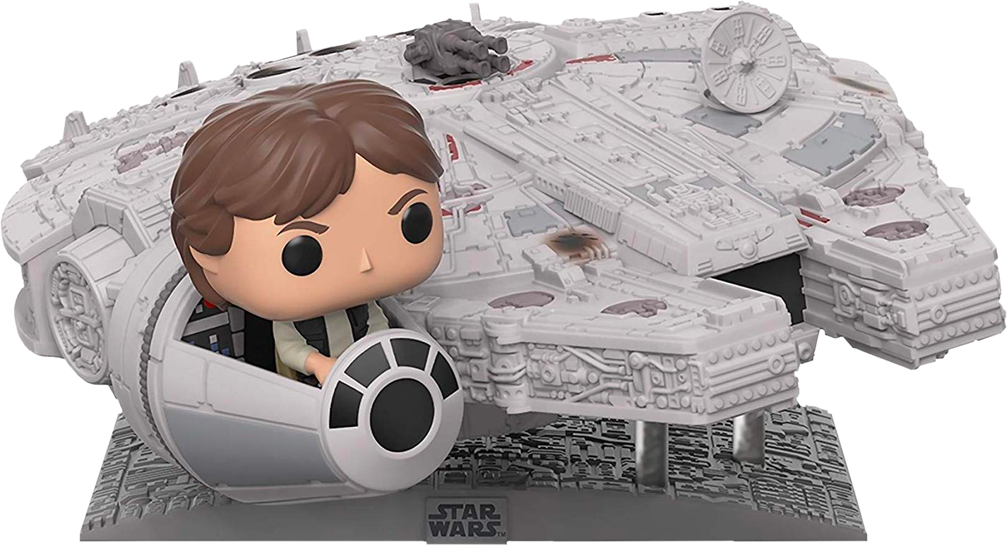 Star Wars POP! Movies Vinyl Deluxe Figure Han Solo with Millennium Falcon Limited Edition 33 cm