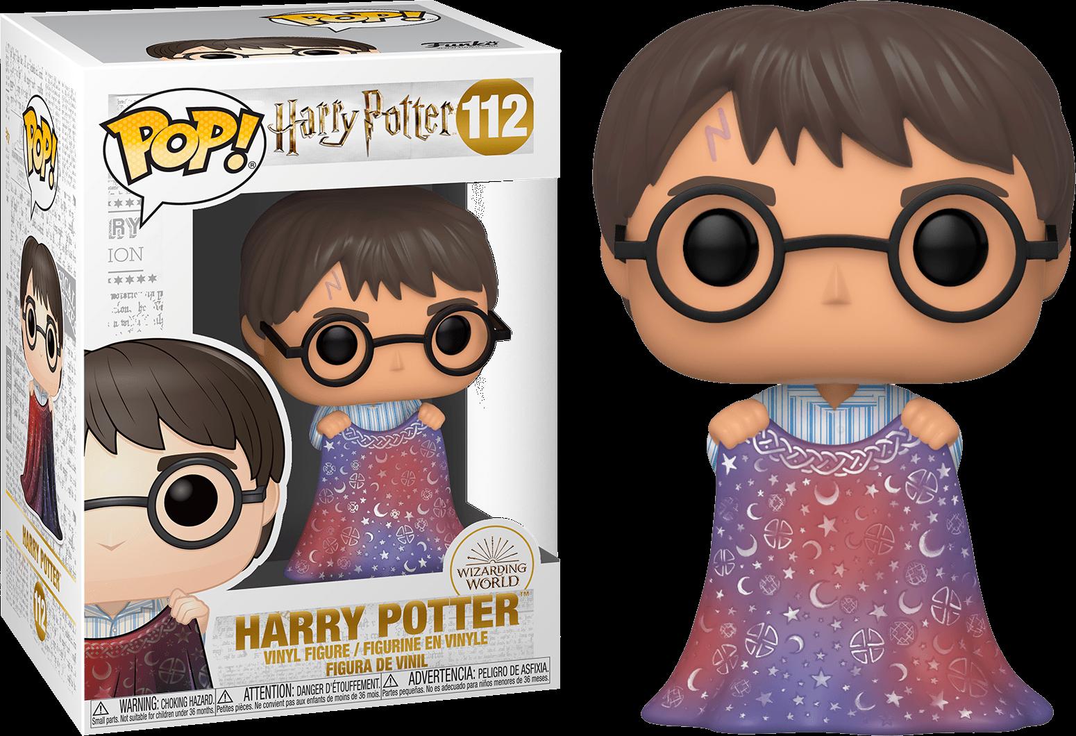 Harry Potter POP! Movies Vinyl Figure Harry w/Invisibility Cloak 9 cm