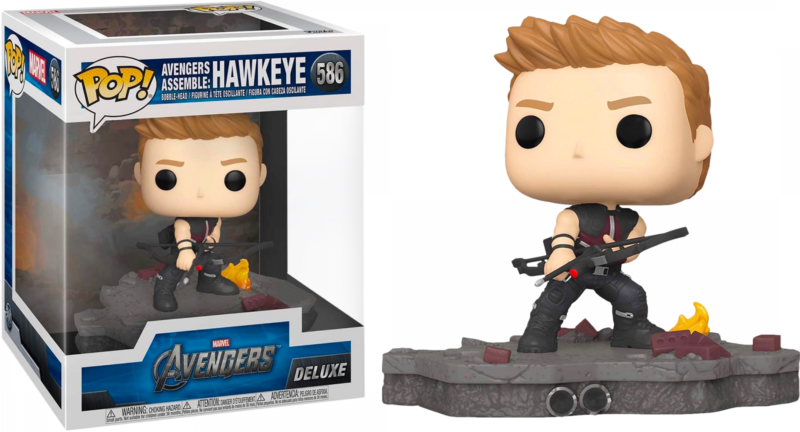 The Avengers POP! Deluxe Vinyl Figure Hawkeye Avengers Assemble Diorama Limited