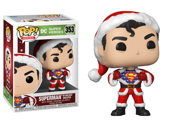 DC Comics POP! Heroes Vinyl Figure DC Holiday: Superman in Holiday Sweater 9 cm