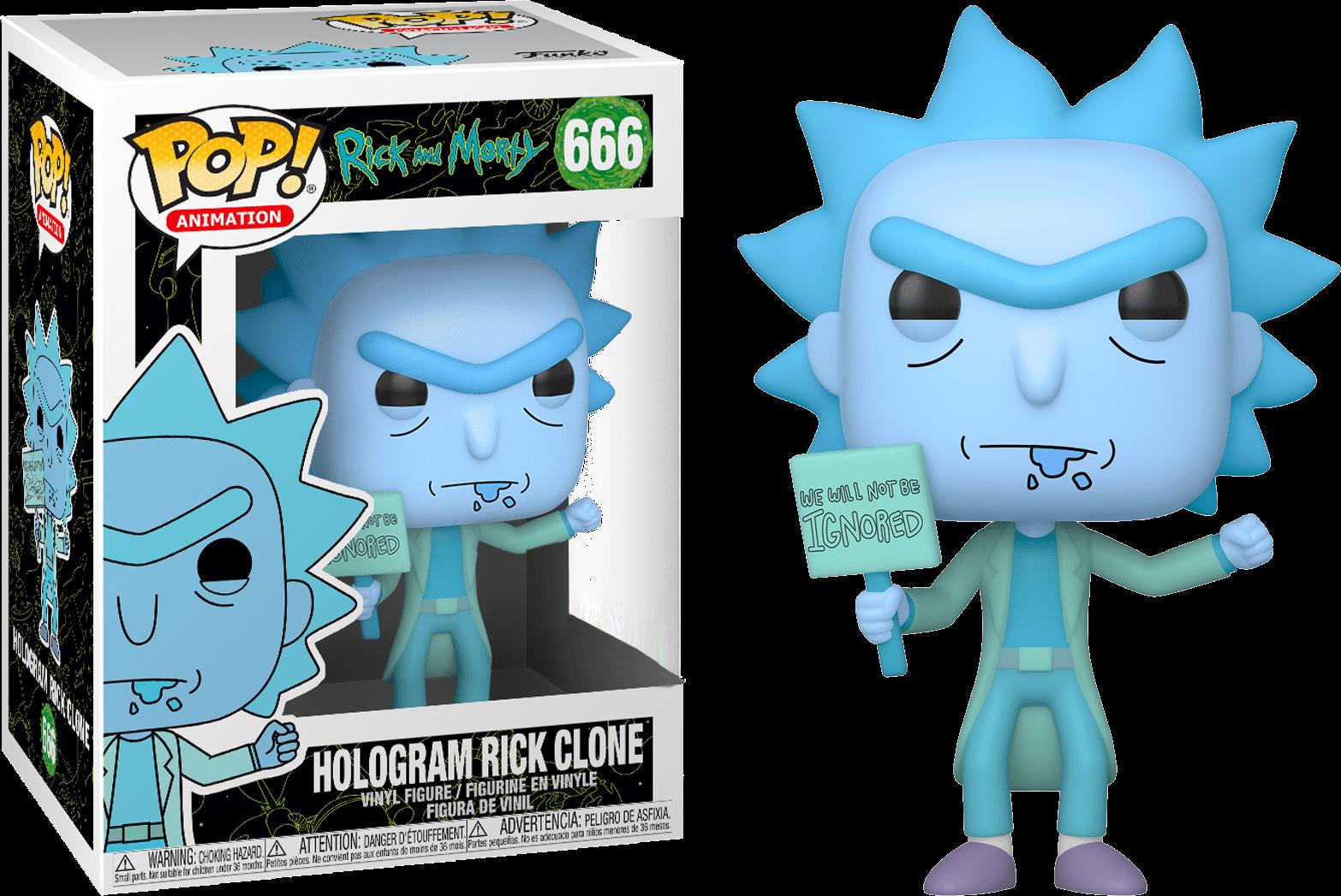Rick and Morty POP! Animation Vinyl Figure Hologram Rick Ignored Limited 9 cm