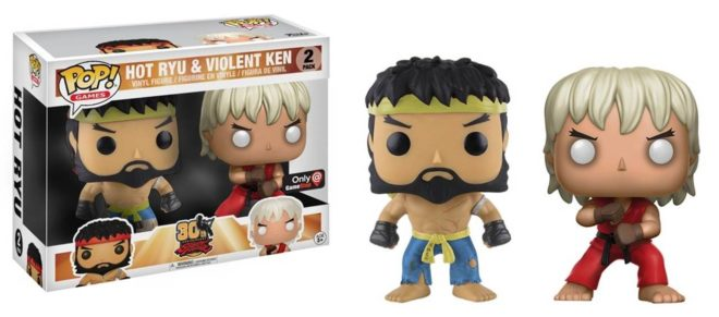 Street Fighter POP! Games Vinyl Figure Hot Ryu and Violent Ken 2-pack Collector's Limited Edition 9 cm (Box)