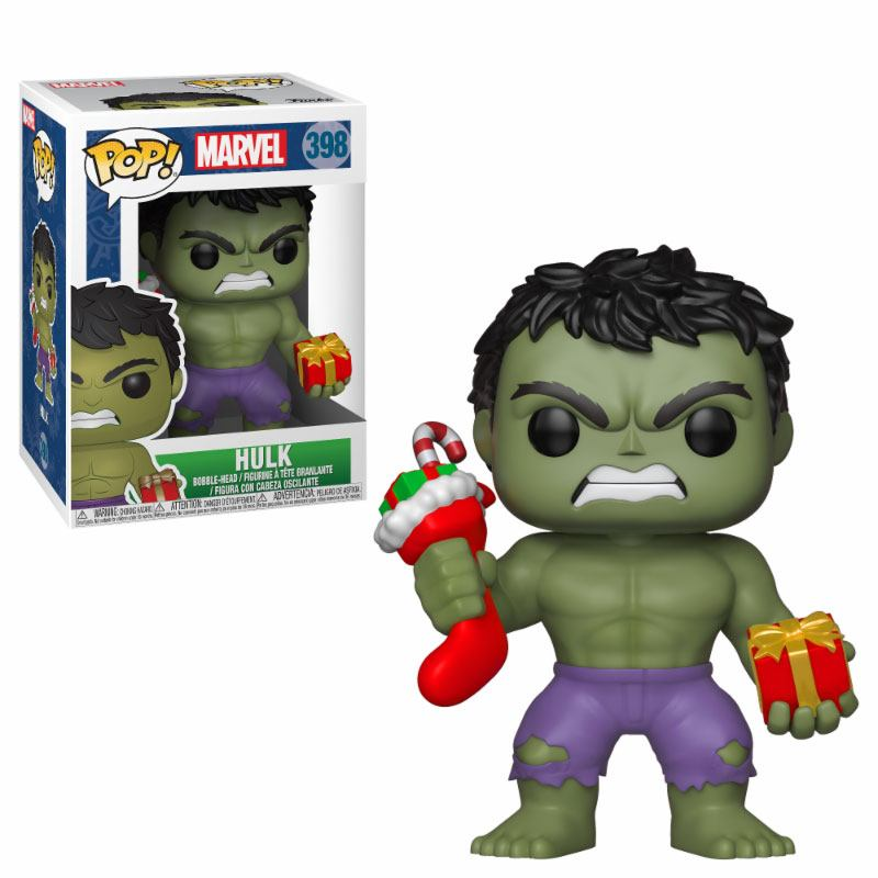 Marvel Comics POP! Marvel Holiday Vinyl Bobble-Head Hulk (Stocking & Plush) 9 cm