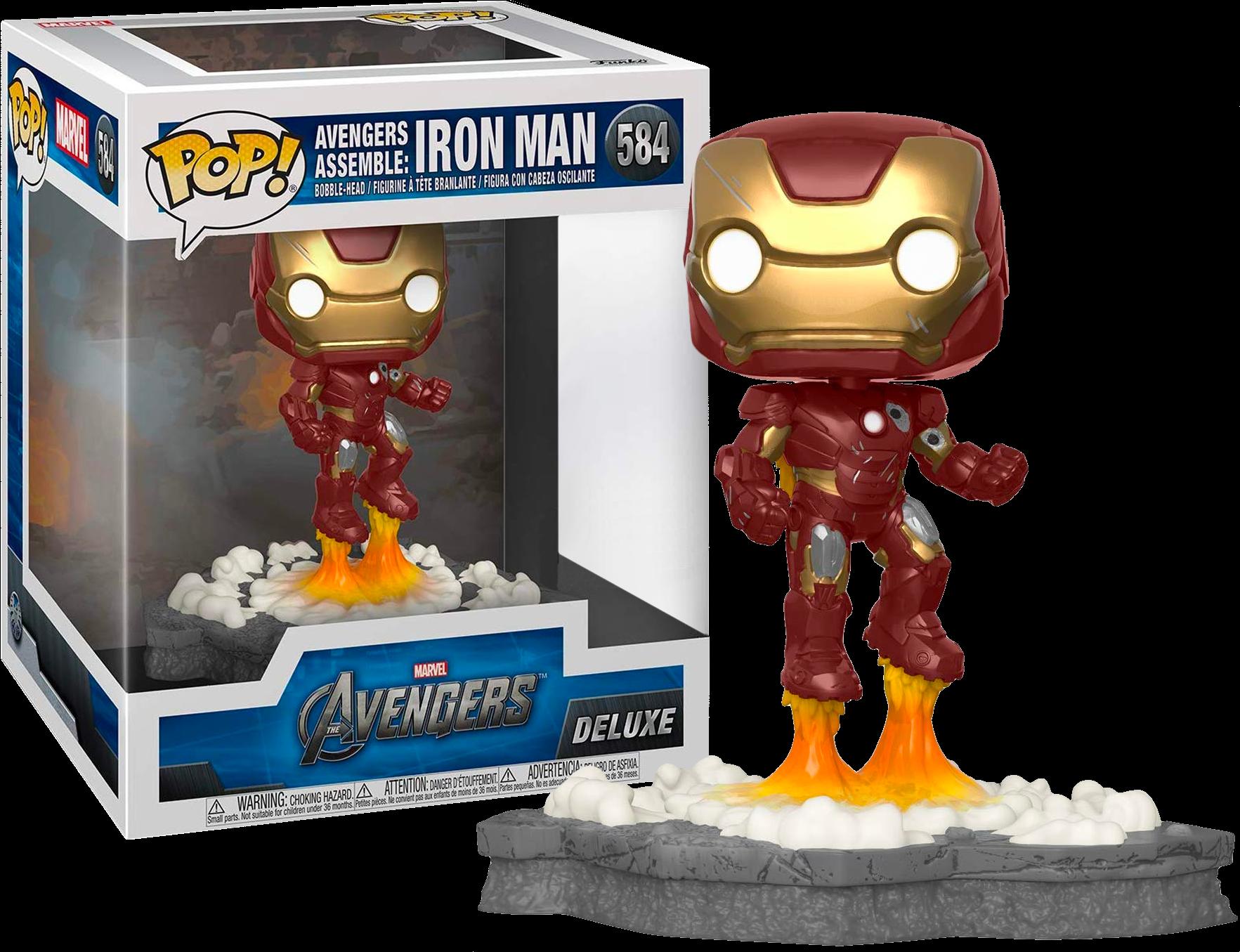The Avengers POP! Deluxe Vinyl Figure Iron Man Avengers Assemble Diorama Limited 14 cm