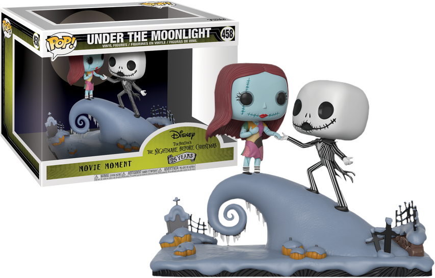 Nightmare Before Christmas POP! Vinyl Figure Movie Moments Jack And Sally Under the Moonlight Limited 9 cm