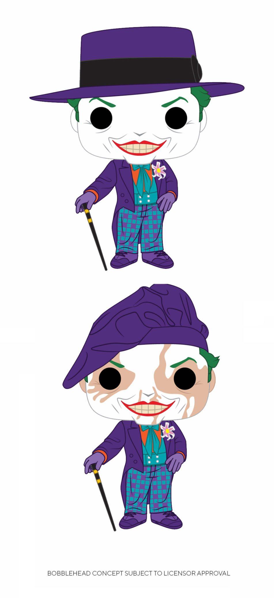 Batman 1989 POP! Heroes Figures Joker 9 cm Assortment (2)