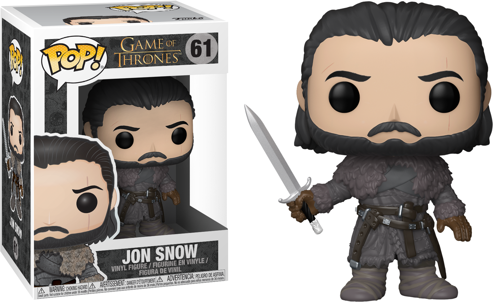 Game of Thrones POP! TV Vinyl Figure Jon Snow (Beyond the Wall) 9 cm