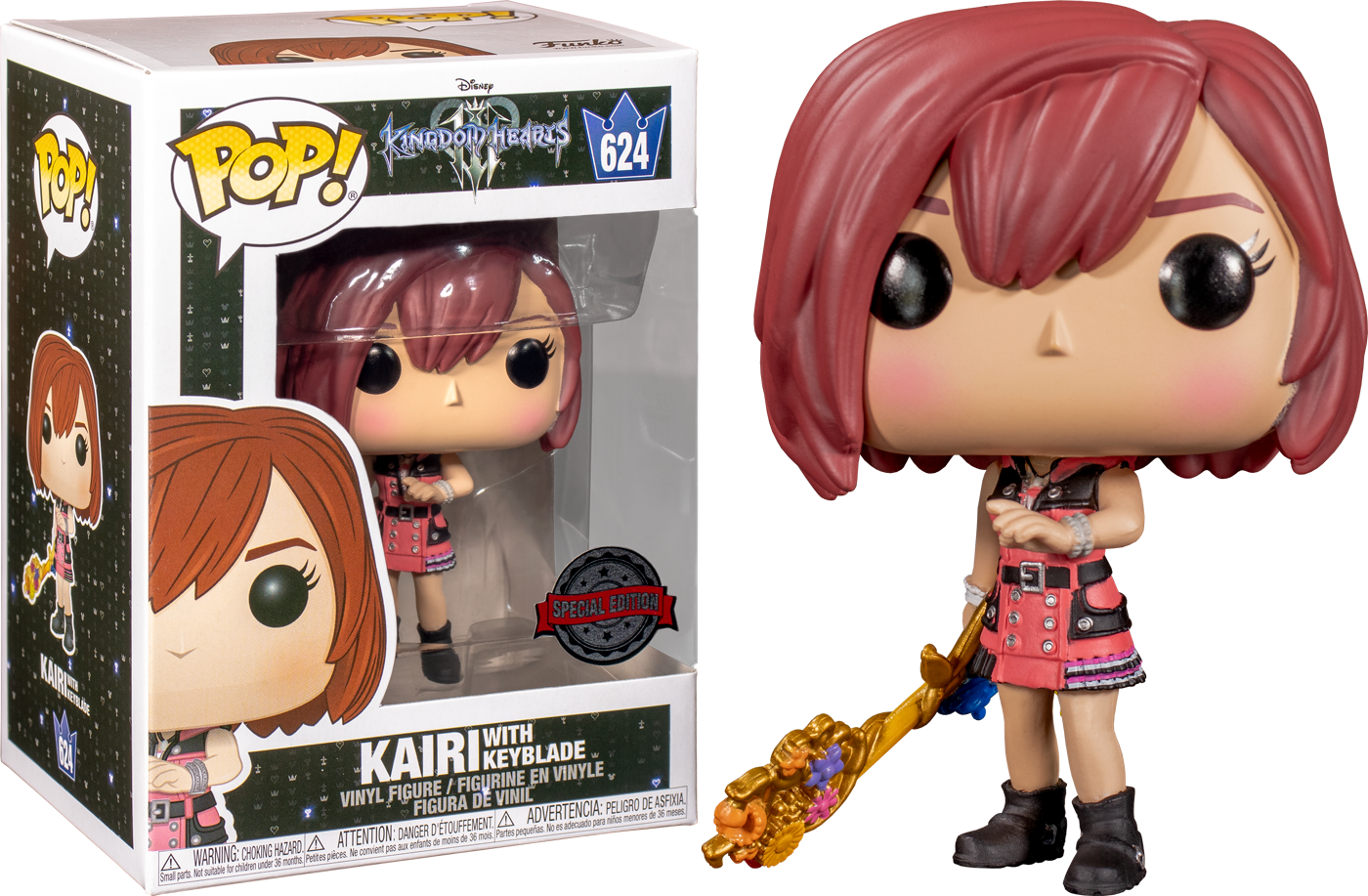 Kingdom Hearts 3 POP! Disney Vinyl Figure Kairi with Keyblade Limited 9 cm