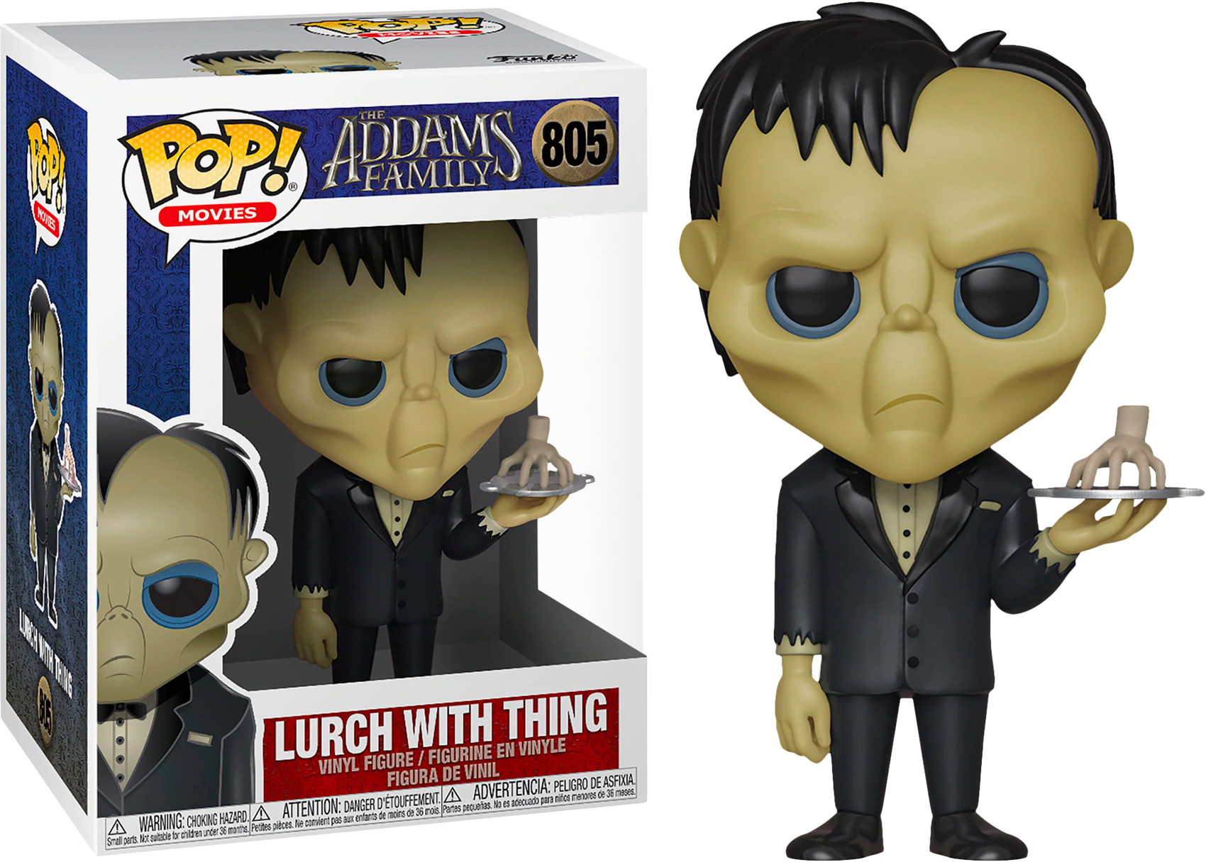 The Addams Family (2019) POP! Movies Vinyl Figure Lurch with Thing 9 cm