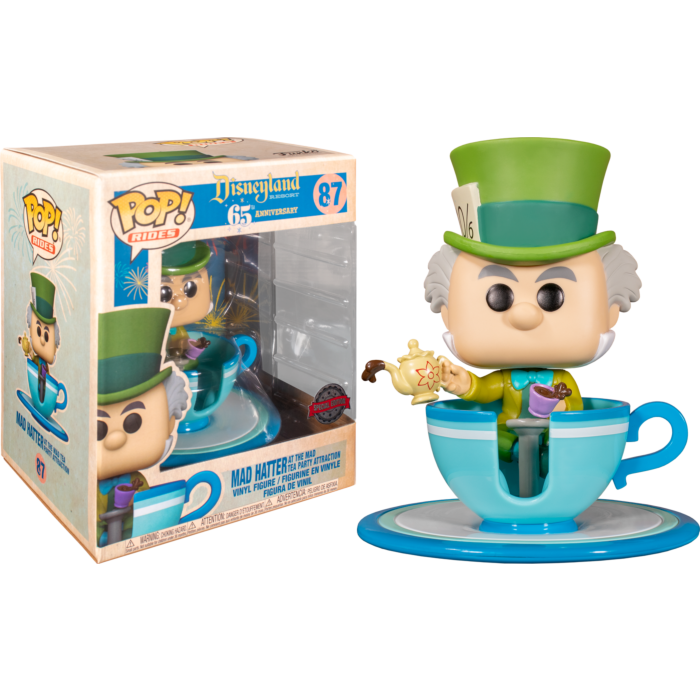 Alice in Wonderland POP! Vinyl Figure Disneyland 65th Anniversary - Mad Hatter with Teacup Tea Party Attraction