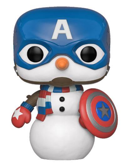 Marvel Holiday POP! Marvel Vinyl Figure Captain America 9 cm