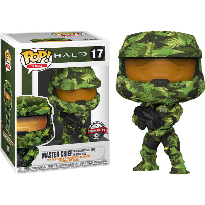 Halo Infinite POP! Games Vinyl Figure Master Chief with MA40 Assault Rifle Hydro Deco Limited 9 cm