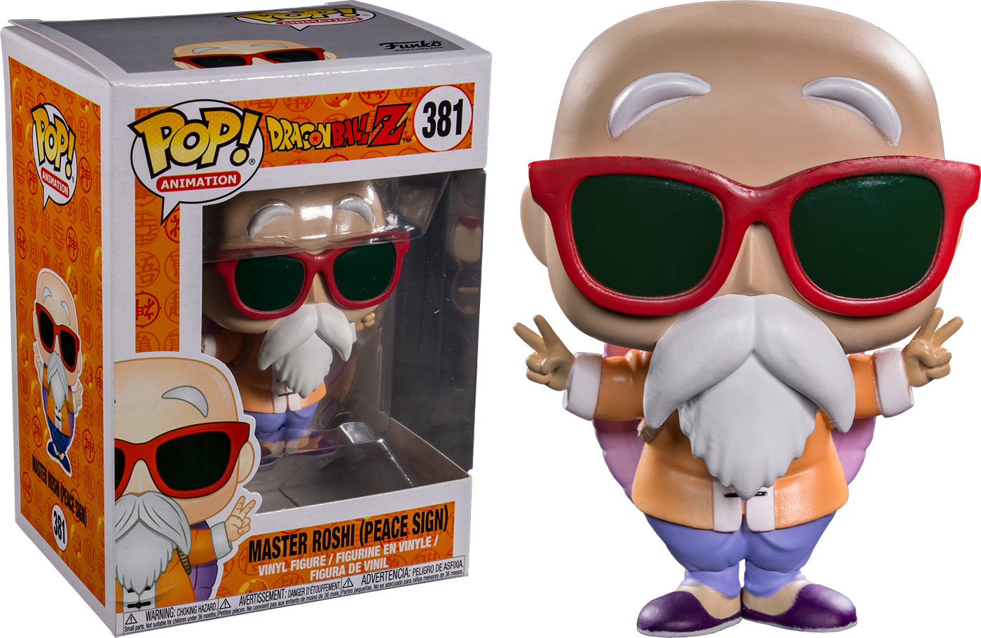 Dragonball Z POP! Animation Vinyl Figure Master Roshi  Peace Sign Limited 9 cm