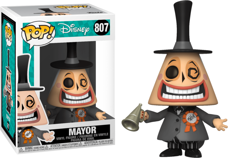 Nightmare before Christmas POP! Movies Vinyl Figure Mayor with Megaphone 9 cm