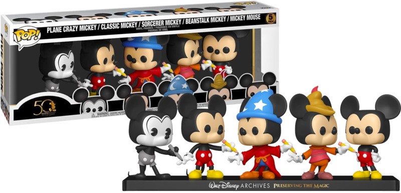 Walt Disney Archives POP! 5-pack Vinyl Figures Mickey Mouse 50th Anniversary Limited