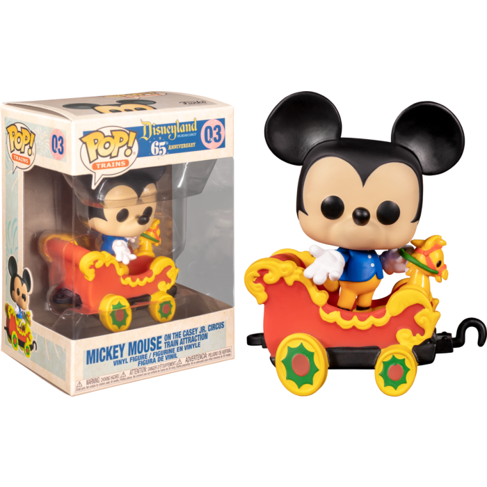 Disneyland: 65th Anniversary POP! Vinyl Figure Mickey Mouse on the Casey Jr. Circus Train Attraction