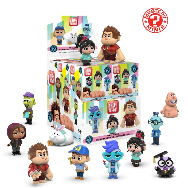 Wreck-It Ralph 2 Mystery Mini Figures 5 cm Display (12)