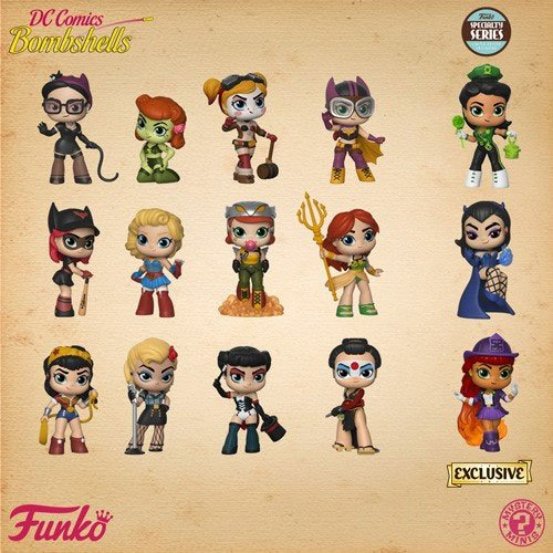 DC Bombshells Mystery Mini Figures 5 cm Display Speciality Series (12)