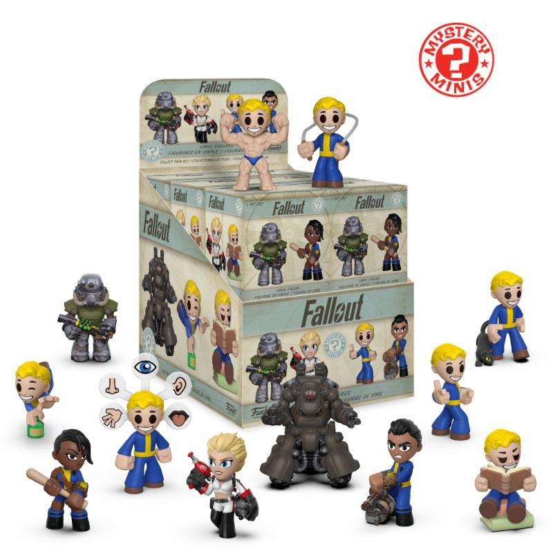 Fallout Mystery Minis Vinyl Mini Figures 6 cm Display (12)