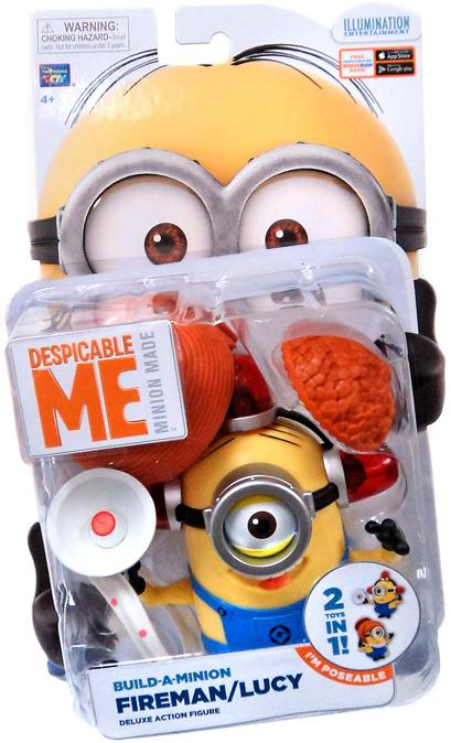 Despicable Me 2 Deluxe Action Figure Minion Fireman/Lucy