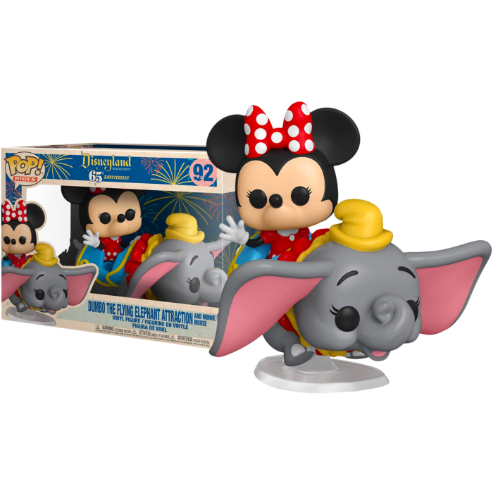 Disneyland: 65th Anniversary POP! Vinyl Figure Minnie Mouse with Dumbo The Flying Elephant Attraction