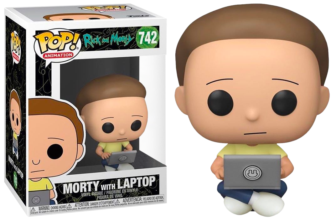 Rick and Morty POP! Animation Vinyl Figure Morty with Laptop Limited 9 cm