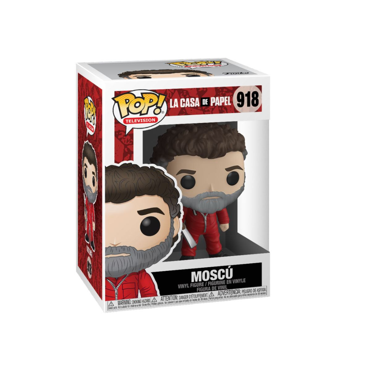 Money Heist POP! TV Vinyl Figure Moscow 9 cm