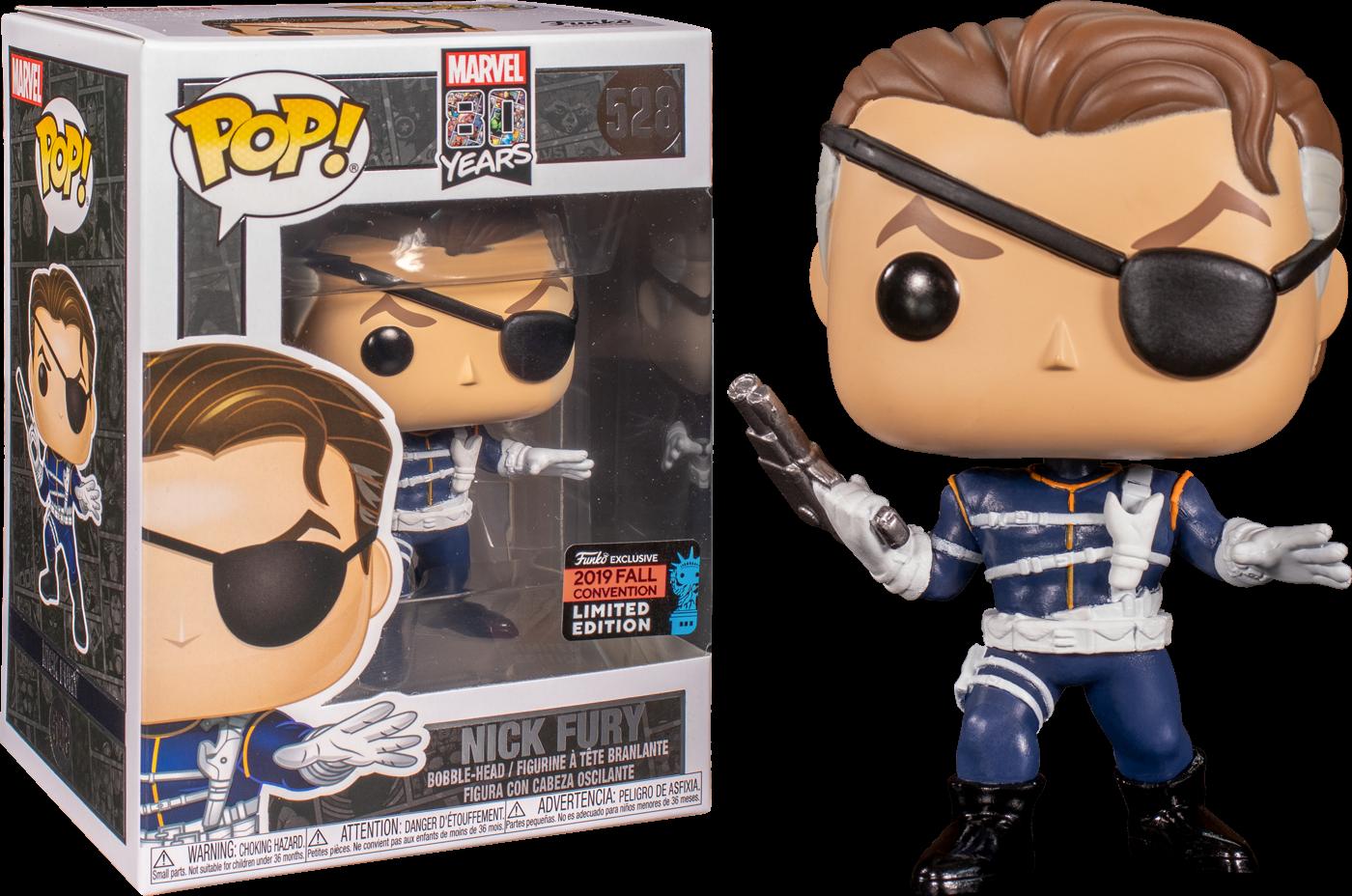 Marvel! Vinyl Figure Nick Fury Exclusive Edition 9 cm (con bollino Fall Convention 2019)