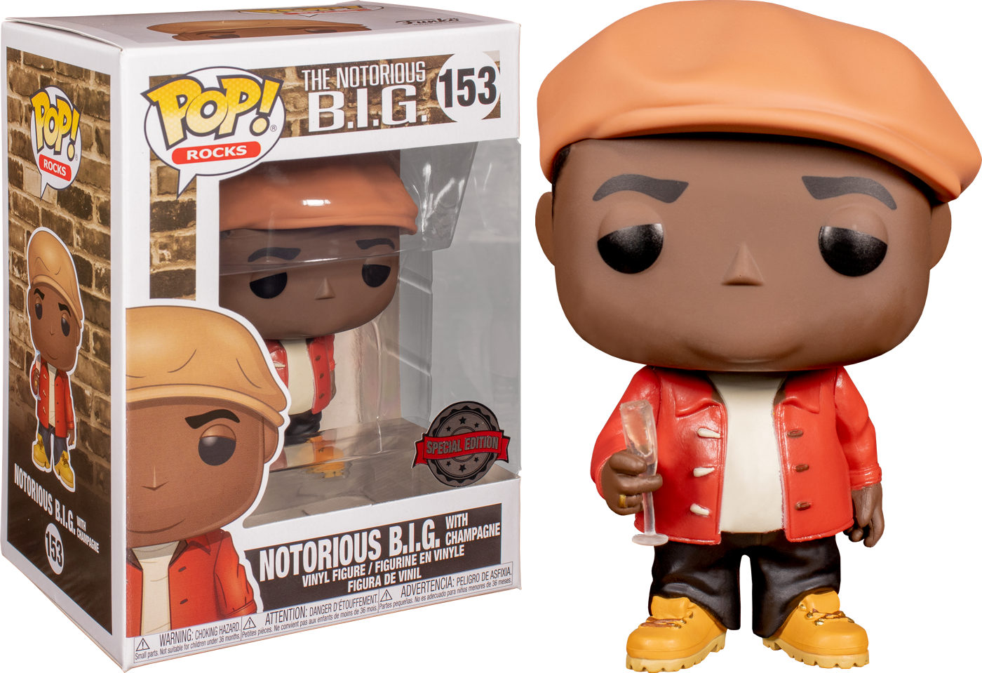 Notorious B.I.G. POP! Rocks Vinyl Figure Notorious Limited 9 cm