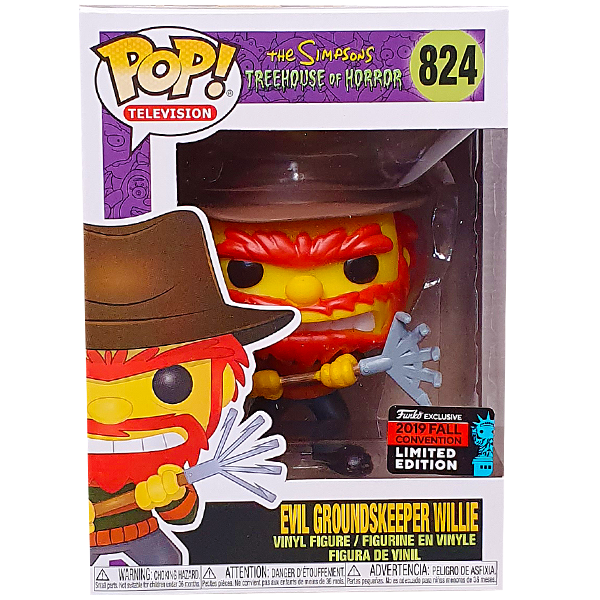 The Simpsons - Evil Groundskeeper Willie as Freddy Krueger Pop! Vinyl Figure (2019 Fall Convention Exclusive)