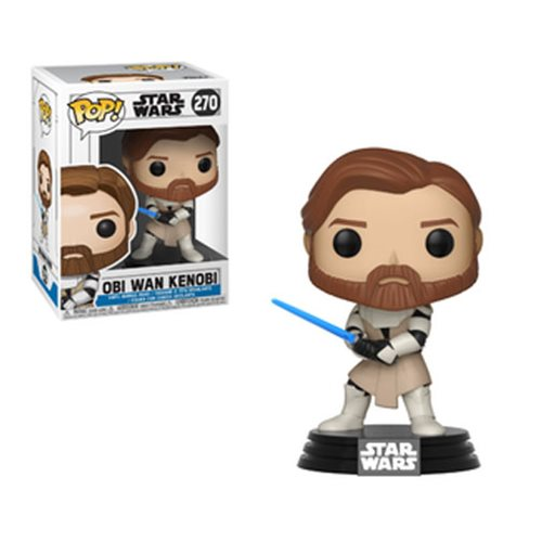 Star Wars The Clone Wars POP! Vinyl Bobble-Head Figure Obi Wan Kenobi 9 cm