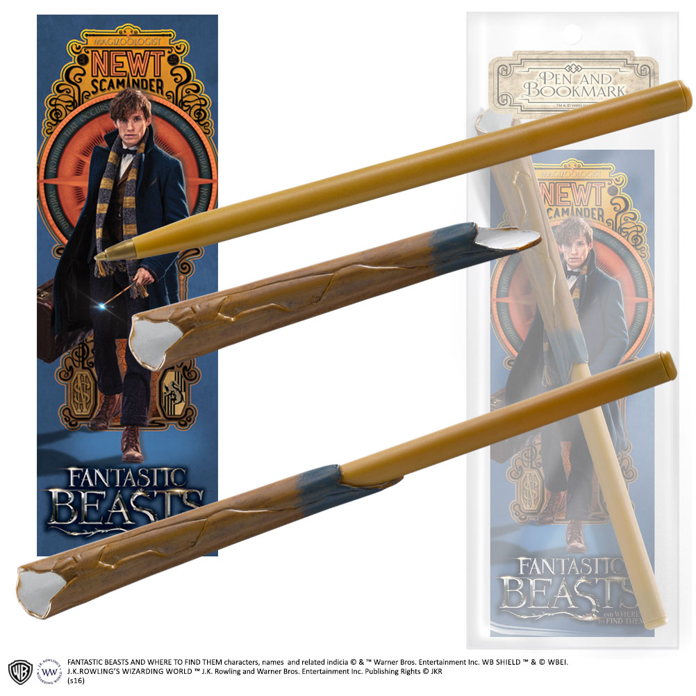 Fantastic Beasts Pen & Bookmark Newt Scamander