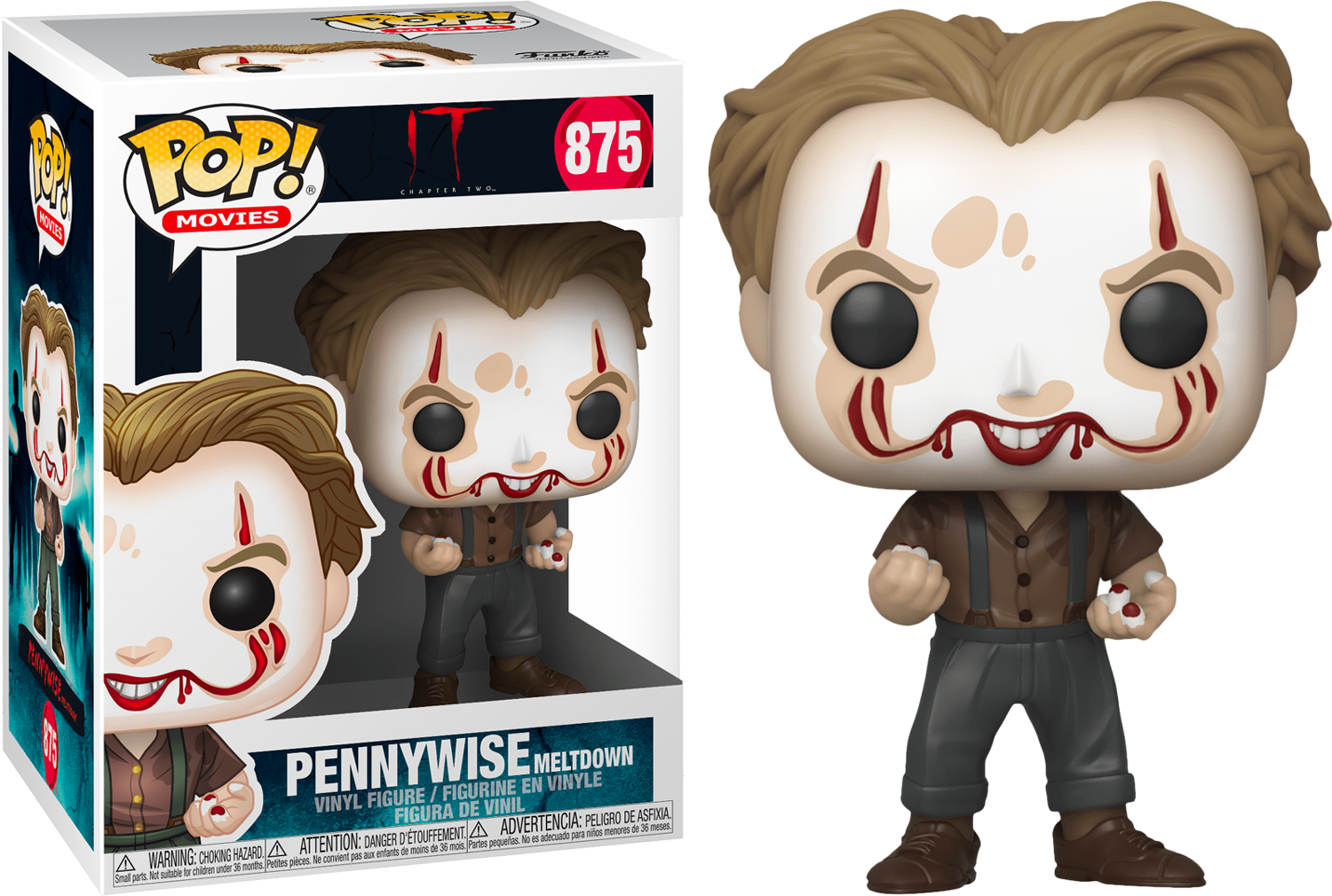 Stephen King's It 2 POP! Movies Vinyl Figure Pennywise Make-Up 9 cm