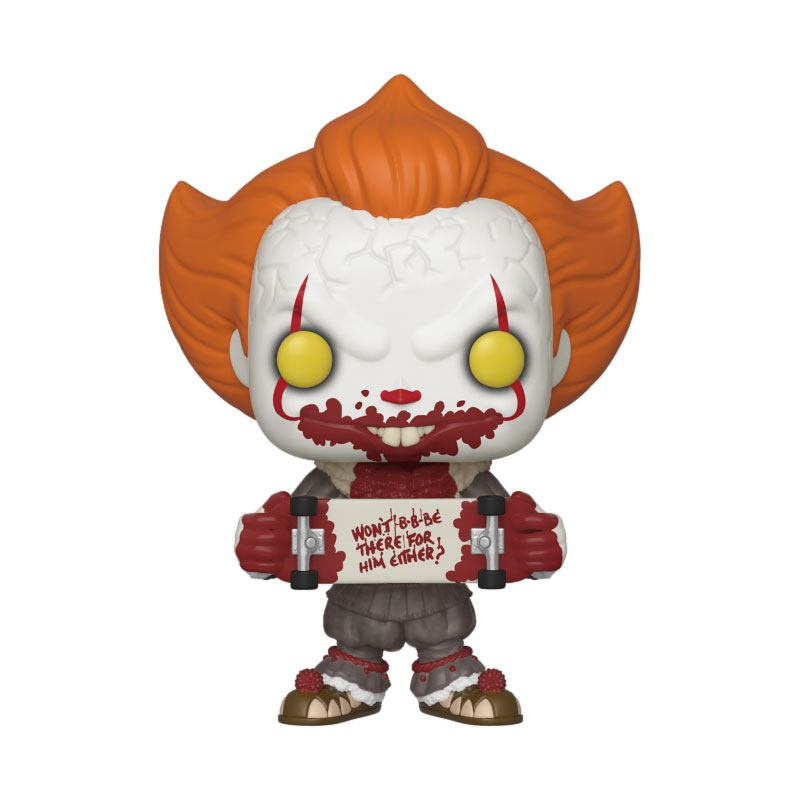 Stephen King's It 2 POP! Movies Vinyl Figure Pennywise w Skateboard Limited Edition 9 cm