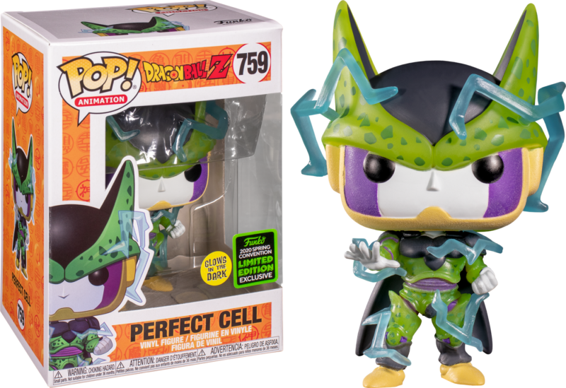 Dragon Ball Z POP! Vinyl Figure Perfect Cell Glow in the Dark Limited 9 cm (con bollino Spring Convention 2020)