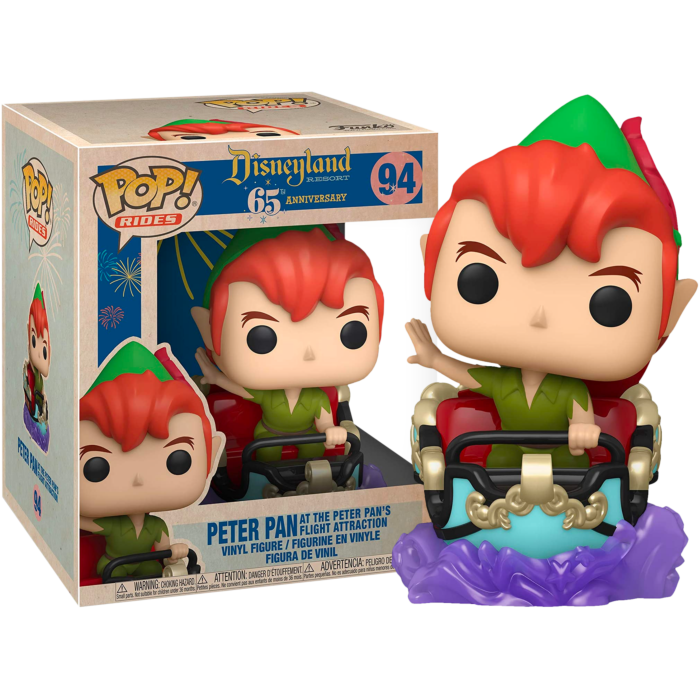 Peter Pan POP! Vinyl Figure Disneyland 65th Anniversary - Peter Pan with the Peter Pan's Flight Attraction