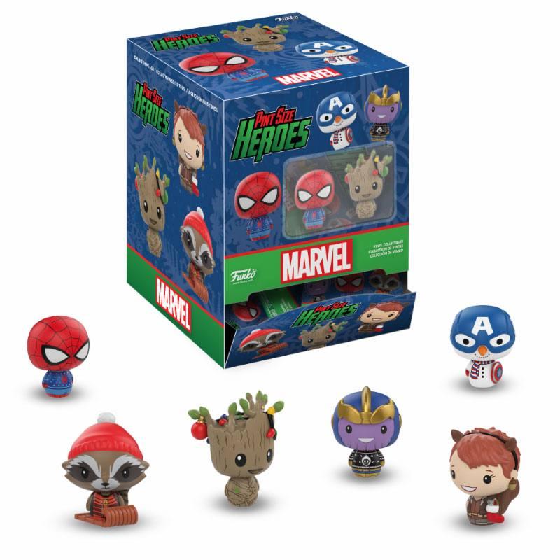 Marvel Comics Pint Size Heroes Mini Figures 6 cm Display Marvel Holiday (24)