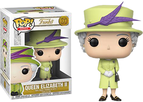 Royal Family POP! Vinyl Figure Queen Elizabeth II in Green Dress 9 cm