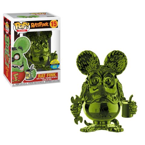 Rat Fink POP! Vinyl Figure Rat Fink Green Chrome 9 cm (2019 Summer Convention Exclusive)