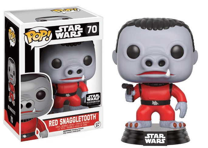 Star Wars POP! Vinyl Bobble-Head Red Snaggletooth Limited 9 cm