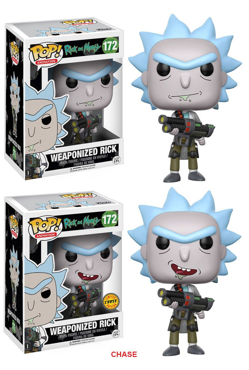 Rick and Morty POP! Animation Figures Weaponized Rick 9 cm Assortment (2)