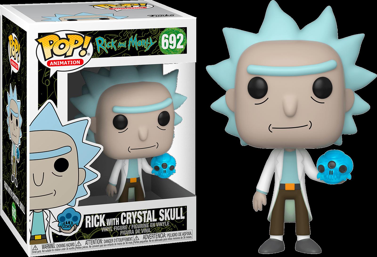 Rick & Morty POP! Animation Vinyl Figure Rick with Crystals 9 cm