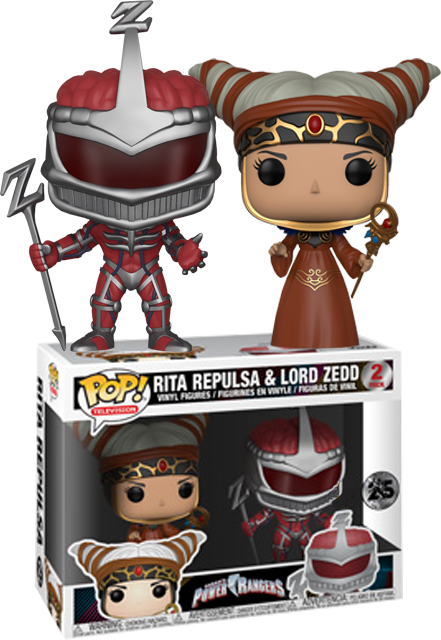 Power Rangers POP! Vinyl Figures 2-pack Rita Repulsa & Lord Zedd Limited 9 cm